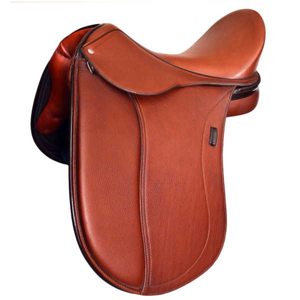 Triumph - Cognac with Patent Brown Facing & Backroll with tooled 1/2 moon