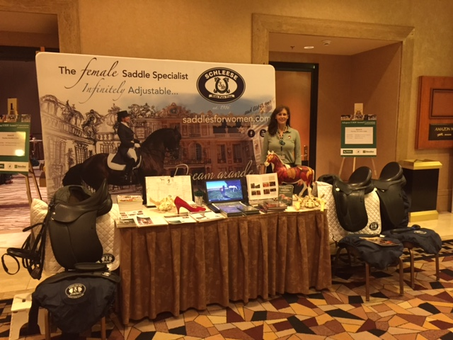 Cathy Rothery representing Saddlefit 4 Life & Schleese at the USDF Convention Dec. 2015