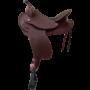 Devin Western Saddle - Chestnut - Black Seat