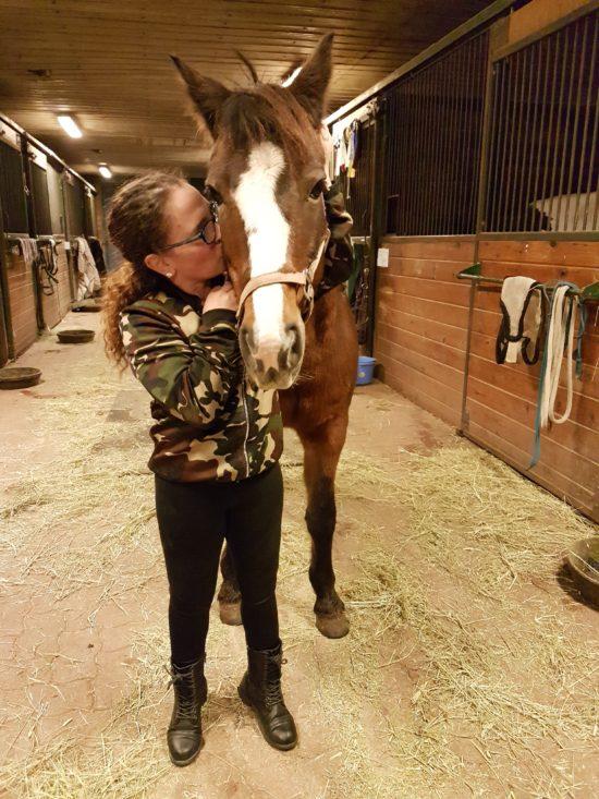 Korina Rothery with Pony at RCRA in Cedar Valley, Ontario.