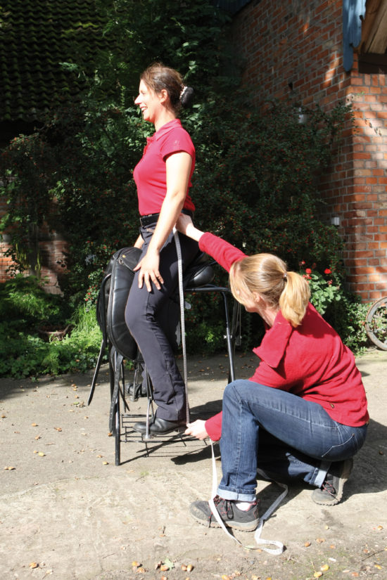 Measuring a Rider for Proper Saddle Fit