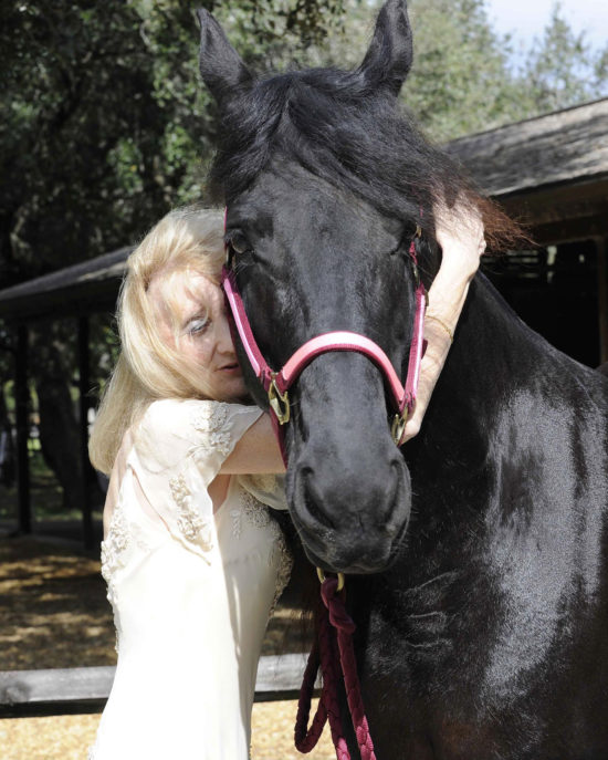 Claudia Strong with Amber