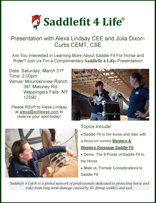 Saddle Fitting Sessions - New York-New Jersey- (Eastern