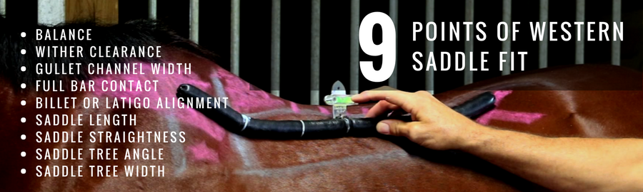 Click to view the 9 Points of Western Saddle Fit.