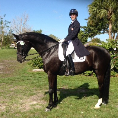 Nancy Smith & HW competing at Prix-St. George in the Schleese Hybrid Saddle