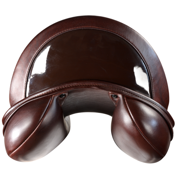 Let's Dance - Chestnut with Brown Patent Leather 1/2 Moon