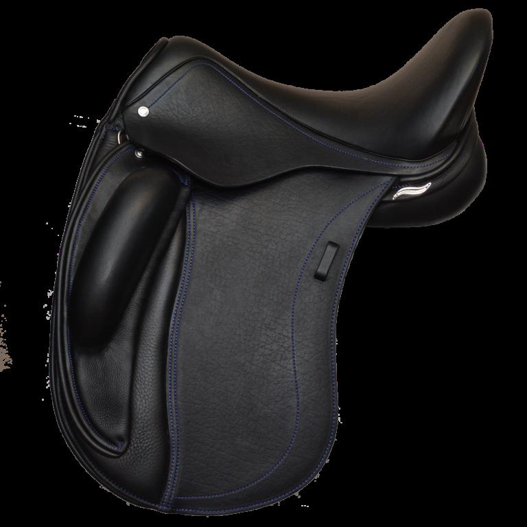 Quartet Dressage Saddle with Option Blue Welting & Stitching