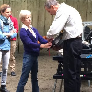 "Jochen with Dr. Sue Dyson at his recent clinic as guest of Caroline Lindsay of ""Learn Saddle Fitting Resource: CPD MSFConnection (Perfect Movement Solutions)"" in the U.K."
